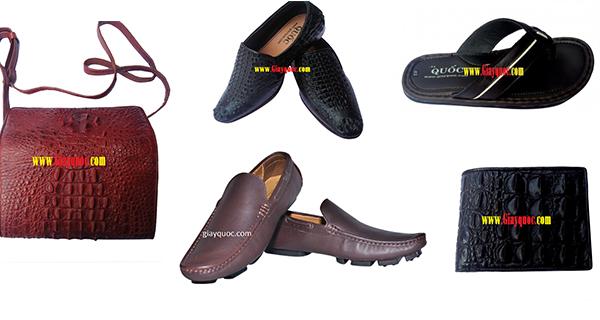 giày tăng chiều cao, giày da cá sấu, ví da cá sấu